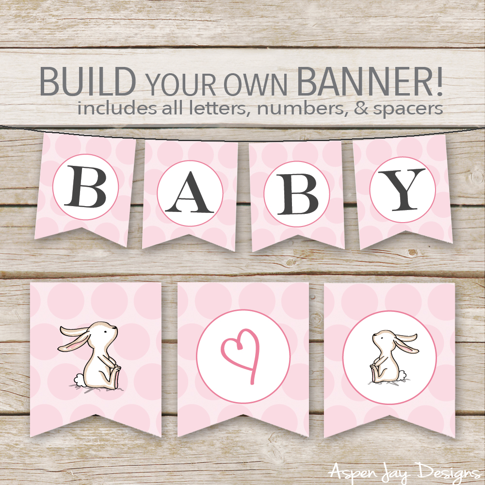 Easter Banner printable. Easy way to decorate for the Easter season and SUPER cute! Pinning!