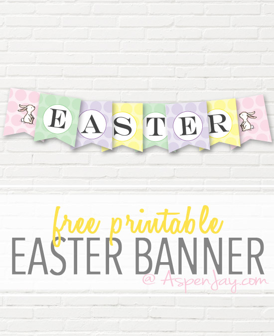 image relating to Easter Banner Printable referred to as Absolutely free Easter Banner Printable - Aspen Jay