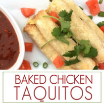 A yummy recipe for creamy baked chicken taquitos. Everyone always asks for the recipe when I make these taquitos. The are delicious and easy to make!