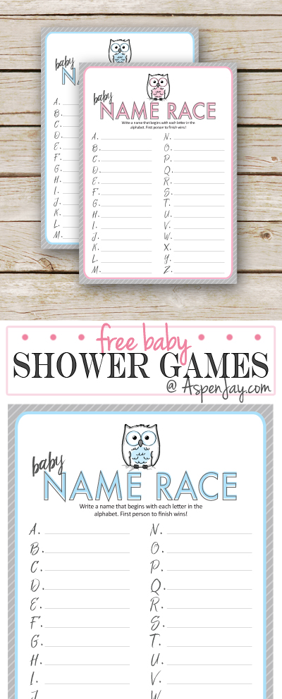 FREE Owl Baby Shower Game Printable SUPER CUTE Perfect For My