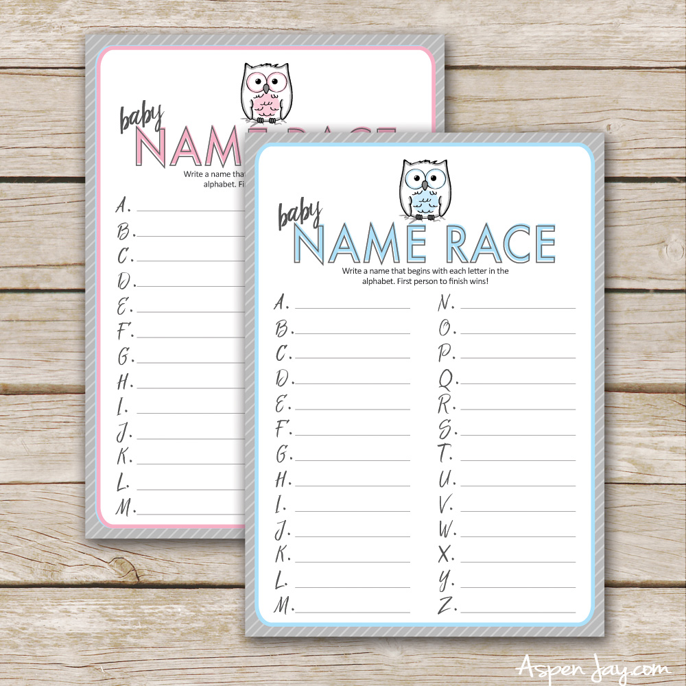 graphic regarding Printable Baby Shower identified as No cost Owl Youngster Shower Activity Printable - Aspen Jay