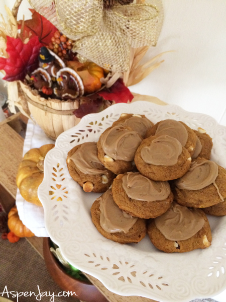 Fun Thanksgiving Food Ideas for preschool party! These cookies are the BEST pumpkin cookies EVER!!!! Throwing a little thanksgiving themed party for the kids would be so cute! Lots of great ideas, complete with all the recipes! PINNED!!!
