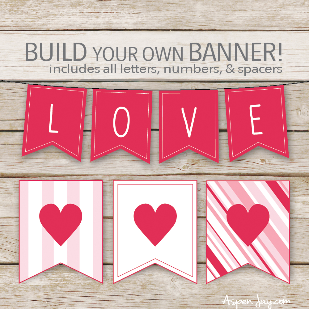 graphic about Valentine Banner Printable called XOXO Banner for Valentines Working day cost-free printable - Aspen Jay