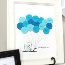 Adorable FREE owl guest book printable which is a perfect addition to an owl themed baby shower! Comes in both a blue and pink owl! PINNED!!