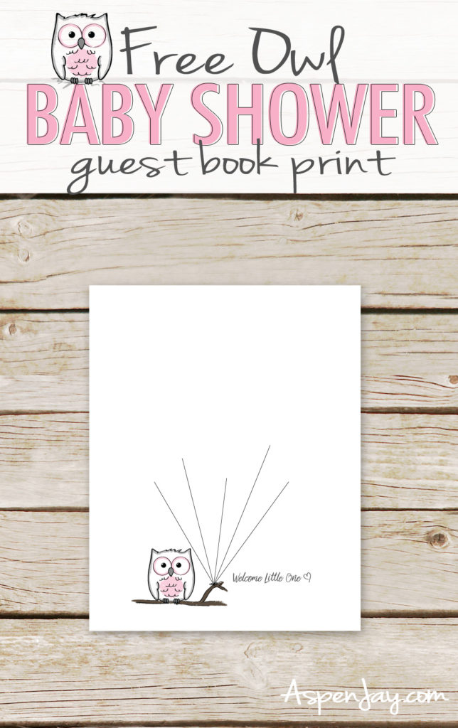photograph regarding Baby Shower Guest Book Printable known as Absolutely free Owl Visitor Reserve Printable - Aspen Jay