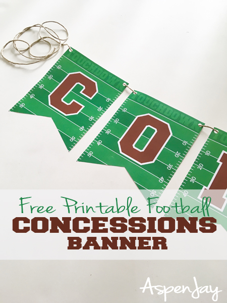 photograph relating to Free Printable Football identify Absolutely free Soccer Concessions Banner - Aspen Jay