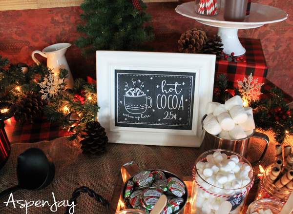 Warm Up at the Hot Chocolate Bar Hot Chocolate Bar Sign Holiday Party Hot Cocoa Sign PRINTABLE 8x1016x20\u201d Sign