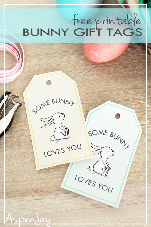 photo about Gift Tags Printable referred to as Bunny Reward Tags - totally free printable for Easter! - Aspen Jay