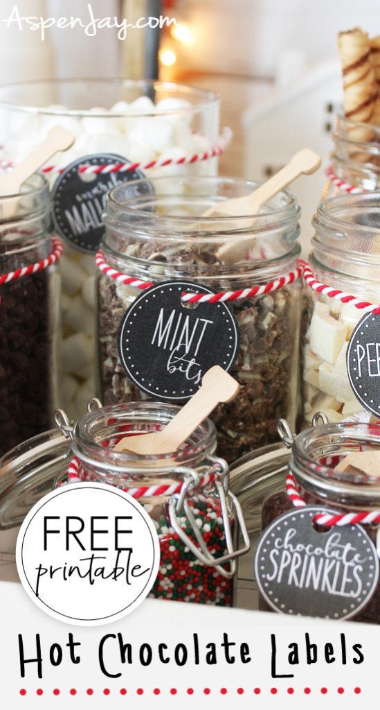 Hot Chocolate Bar Labels Free Printable Aspen Jay