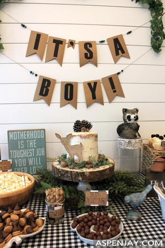Woodland Themed Baby Shower Food Table Aspen Jay